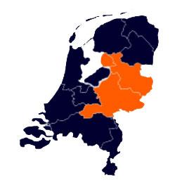 Kaart van de regio oos