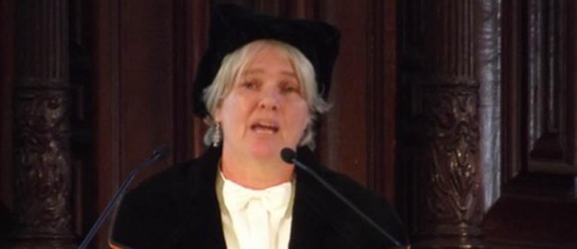 Jeanette Pols tijdens de oratie