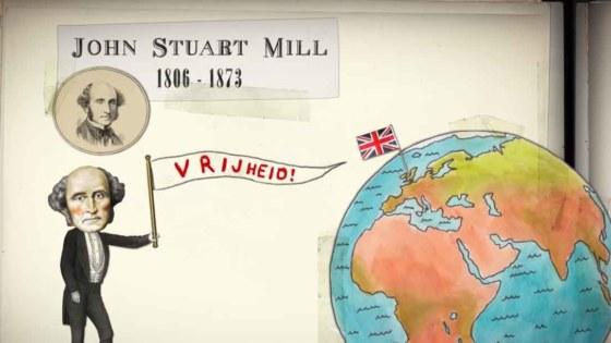 John Stuart Mill - Still uit Durf te denken van Omroep Human