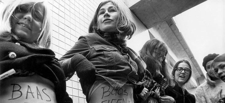 Vrouwenemancipatie, feminisme Nederland. Dolle Mina's