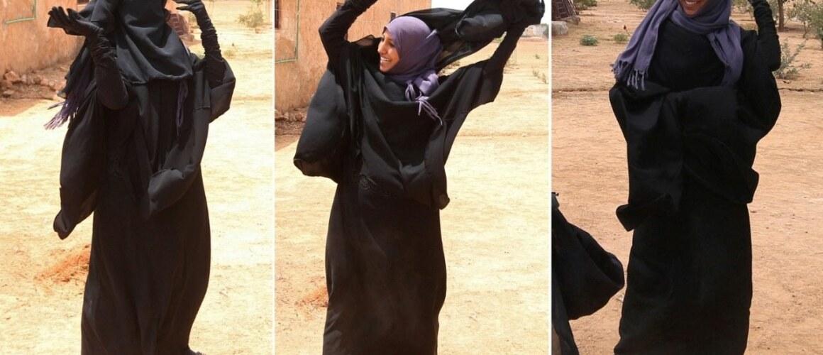 tear off niqab
