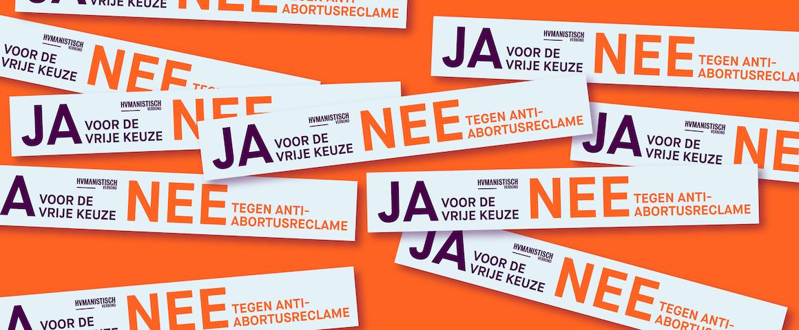 banner sticker vrije keuze