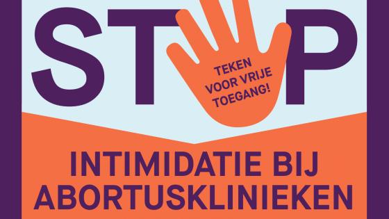 flyer stop intimidatie