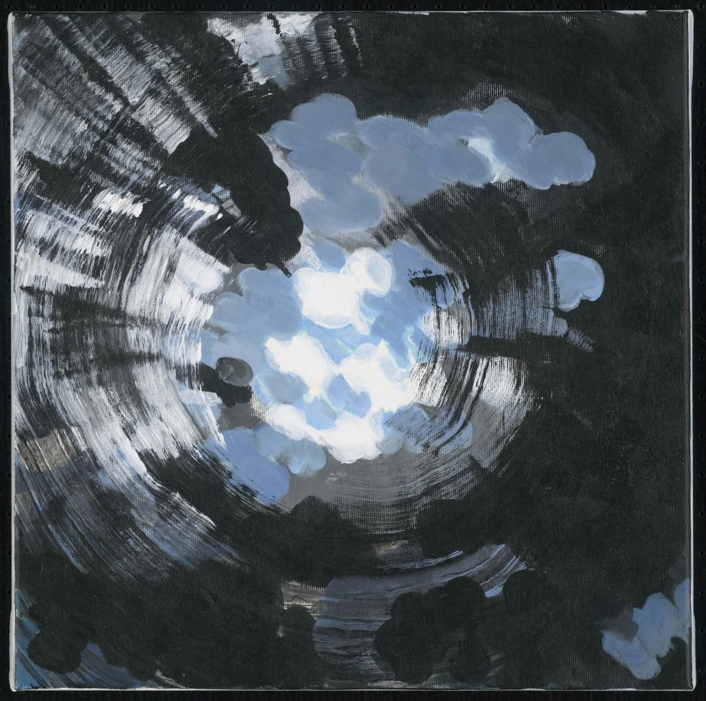 24. KB, Zonder titel 3, 2017, acryl op doek, 40 x 40 cm.