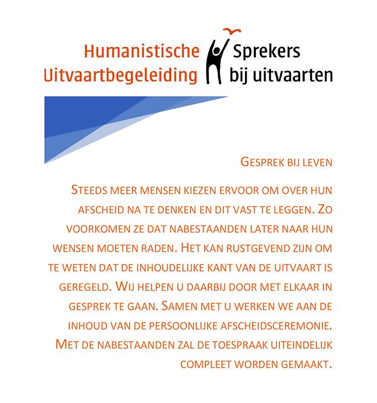 Humanistische Uitvaart Sprekers gesprek bij leven tekst