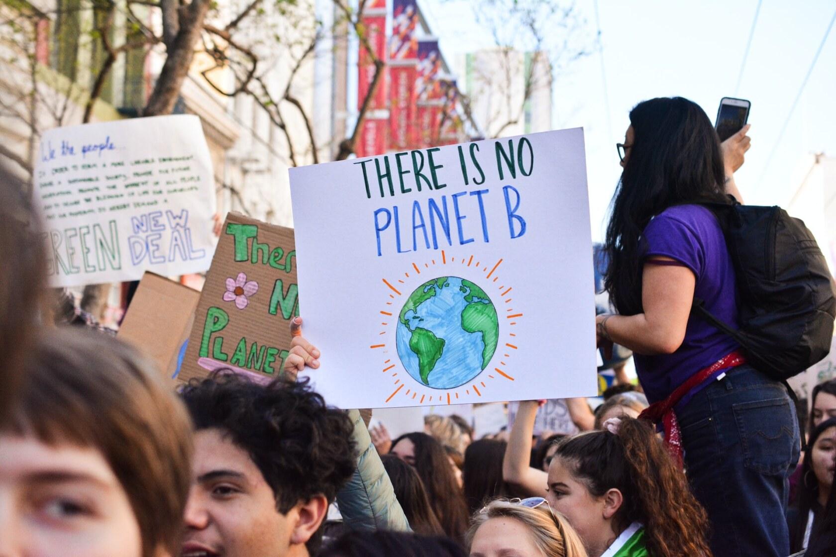 Klimaatmars protest