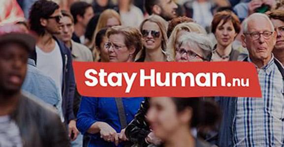 Een vluchteling is een mens: Stay Human